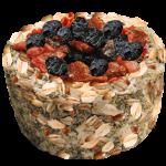 Зерновая  круглая корзиночка с ягодами