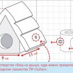 Схема маленький домик