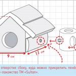 Схема средний домик