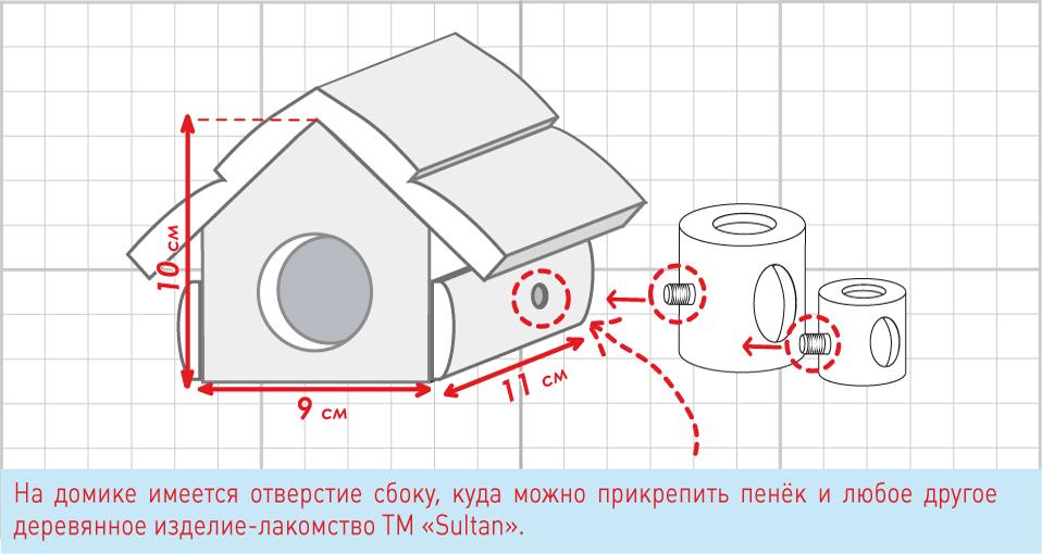 Домик для шиншиллы чертежи